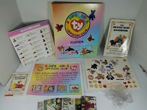 TY Beanie Babies Card Official Club Binder With Books and 56 Cards Vintage