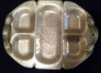 Vintage Silverlook The Continental Mark Hand Wrought #537 Flower Tray Platter
