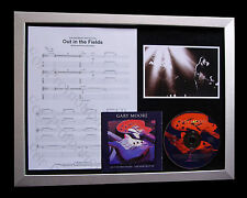 GARY MOORE Out In Fields TOP QUALITY MUSIC CD FRAMED DISPLAY+EXPRESS GLOBAL SHIP