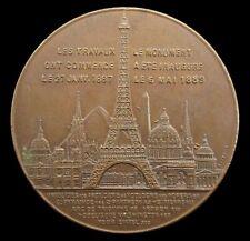 More details for france 1889 paris eiffel tower ascent 42mm medal
