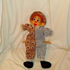 Hand Made Marionette Puppet on a swing Vintage Marionette