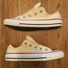 Converse All Star Low Women's Sneakers Shoes Canvas Lt. Yellow Cream Size 6
