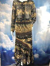 Mirasol Top Skirt Set Dress Outfit Sheer L / XL Cruise Travel Resort Artsy