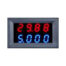 """DC 0-100V 10A 0.28"""" 4-Bit Voltmeter Ammeter Blue+Red LED Amp Volt Meter Gauge"""