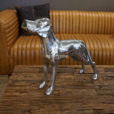 Hund Figur Aluminium Alu Statue Skulptur Weimaraner Deko Büro Jagd Magyar Vizsla