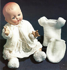 14 /16 INCH DOLL TINY TEARS LAYETTE  KNITTING PATTERN   (167)