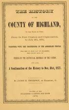 1878 HIGHLAND County Ohio OH, History and Genealogy Ancestry Family Tree DVD B14