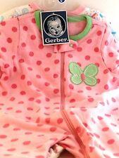 Gerber Baby Girl Sleep n Play Variety 2 pack 3-6 months NWT BABY SHOWER GIFT
