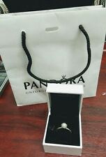 Pandora Sterling Silver Pearl Ring Boxed