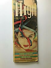 High the Tall Magazine for Men Issue 3 October 1957 Julie Newmar Zahra Norbo