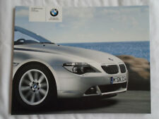 BMW 6 Series Coupe Convertible range brochure 2004 Ed 2