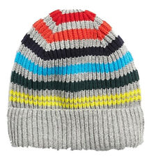 Gap Factory NWT Mens Crazy Stripe Beanie Hat One Size b55b43a4e8b