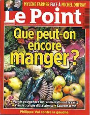 LE POINT N°2252 05/11/2015 QUE PEUT-ON ENCORE MANGER?/ FARMER VS ONFRAY/ HIDALGO