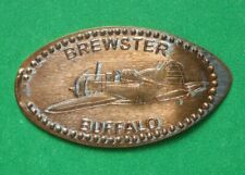 Brewster Buffalo elongated penny Usa cent Flying Machines Series coin