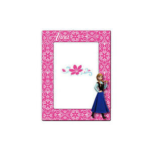FROZEN Frame Fuchsia Wood With Anna 14x18, 5 CM From Girl