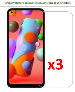 3x Samsung Galaxy A11 Screen Protector w/ cloth