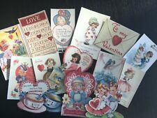 BB76:Vintage images of  Valentine's Day,Pink Valentine  -Die Cuts Scrapbooking