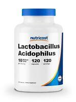 Nutricost Lactobacillus Acidophilus 10 Billion CFU, 120 Vegetarian Capsules