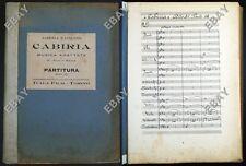 partitura musicale 3°atto film muto CABIRIA capolavoro di Giovanni Pastrone 1914
