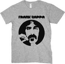 T-Shirt Frank Zappa, maglietta grigia, logo musica, Rock psichedelico anni 70