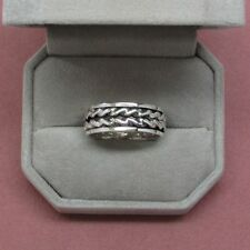 Sterling silver Men's ring braided overlay 925 sterling size 10