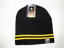 Black Gold Army Star Logo Military US Watch Stocking Cap Beanie Winter Stocking