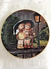 "M. J. Hummel Little Companions Plate ""Stormy Weather"" -Danbury Mint *Mint*"