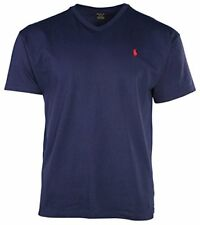 Polo Ralph Lauren Mens Short Sleeve V Neck T-shirt Medium Rustic Navy