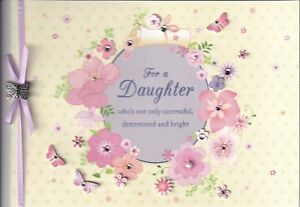 PAPYRUS GRADUATION CARD NIP MSRP $7.95 DAUGHTER BUTTERFLY ( C) CARD (L1)