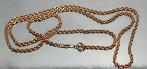 Chain Solid 14k rose gold stamped 585 Russia