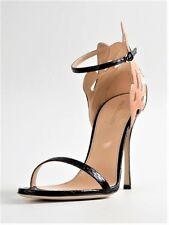 NEW Sergio Rossi Woman's Royal Elaphe Black Sandal, Sz 9    FREE SHIPPING