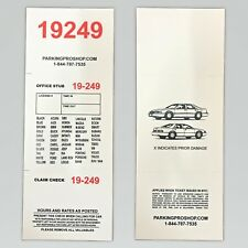 "3 Part Valet Parking Tickets -Box of 1000 3.1/4""""x8.1/2"" Red Numbers 110lb Paper"