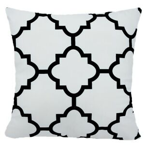 "20x20"" Black White Velvet Decorative Throw PILLOW COVER 2-Sided Bed Cushion Case"