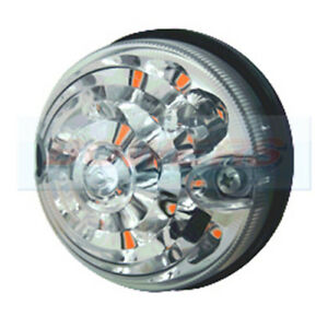 CLASSIC MINI COOPER AUSTIN / ROVER 73mm CLEAR LED FRONT INDICATOR LAMP LIGHT