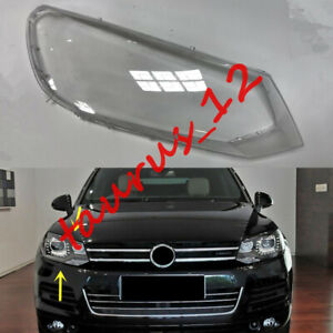 Right Side Transparent Headlight Cover +Glue Replace For VW Touareg 2011-2014