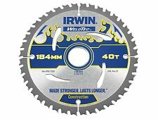IRWIN IRW1897370 184 x 30mm 40-Teeth Weldtec Circular Saw Blade with ATB Tooth G