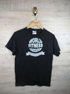 Vtg Hanes world fitness association personal trainer black Graphic T Shirt Small
