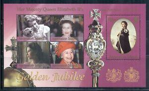 ASCENSION 794 SG#MS843 MNH 2002 QEII Golden Jubilee Souvenir Sheet Cat$8