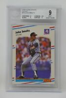 1988 Fleer Update Glossy #74 John Smoltz Rookie Braves Beckett 9 MINT