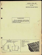 1965 JOHN DEERE PARTS MANUAL FOR 45W FARM LOADER