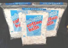New Sofetts Cotton Balls - 300 Regular Size - 3 bags (900 balls)