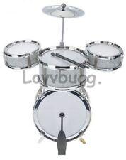 "8 pc BASS Drums Set Mini for American Girl Boy 18"" Doll Accessory U.S. Lovvbugg!"
