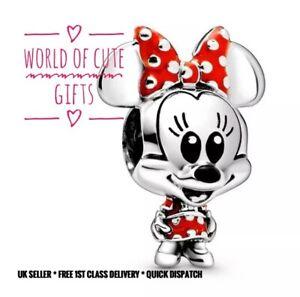 🖤🎀 Minnie Mouse Disney Charm European Silver Tone Gift Wrapped