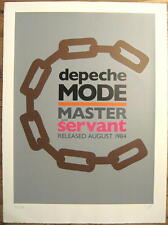 "DEPECHE MODE KUNSTDRUCK ""MASTER AND SERVANT"" POSTER SILKSCREEN LIMITED 300 PIECE"