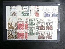 TIMBRES D'ALLEMAGNE : BERLIN 1964/65 YVERT N° 219 à 225 BLOCS DE 4** cdf - TBE