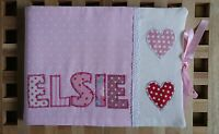 Personalised Handmade Baby Health Record Book Cover for the Red NHS Book-Hearts