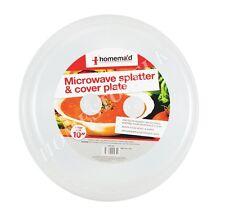"""FORNO a microonde alimenti PLATE DISH PIATTO coprire grandi dimensioni 10 """"con coperchio ventilato 1125"""