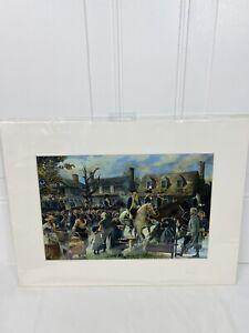 williamsburg to yorktown matted art print Pamela Patrick White Revolutionary War