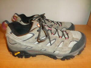 Merrell Bark Brown Mens Sz 11 Hiking Shoes Waterproof Leather - Nice - Fast Ship