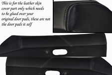 white stitch FITS MAZDA MX5 MK1 MIATA 89-97 2X DOOR CARD PADS LEATHER COVERS